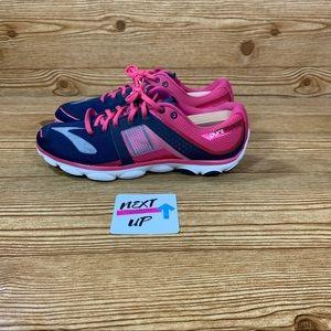 Brooks Pure Flow 4 Running Shoe Pink/Navy 12